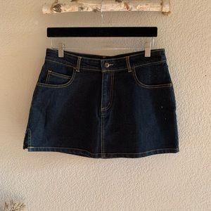 FUBU Classic Denim Mini Skirt